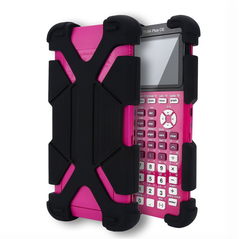 MoimTech Compatible TI-84 Plus CE Graphing Calculator Anti-Drop Silicone Back Cover Case Protective Cover