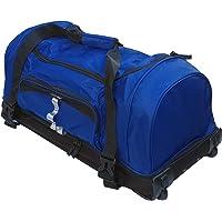 Bolsa de Viaje Blanda Deportes XL 100L Maleta Trolley Grande con Ruedas.. Negro, Azul y Rojo. (Azul)