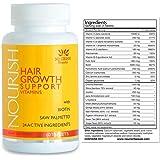 Nourish Beaute - Nourish Hair Growth Vitamins with Biotin and DHT Blockers- Guaranteed Improvements, Less Loss and Better Skin and Nails