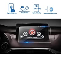 LFOTPP 2017 2018 Mazda CX-9 SUV MZD Connect GPS Car Navigation Screen Protector Nav System Tempered Glass Foils Center Touch Protective Film, 0.26mm Thickness 9H Hardness High Clarity & Anti-Bubble & Anti Scratch