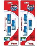 Pentel Hi-polymer Block BjsKU Eraser, Small, 3 Count (2 Pack)