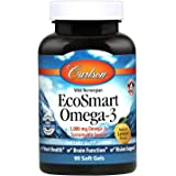 Carlson - EcoSmart Omega-3, Sustainable Source, Promotes Heart, Brain, Vision & Joint Health, Lemon, 90 soft gels
