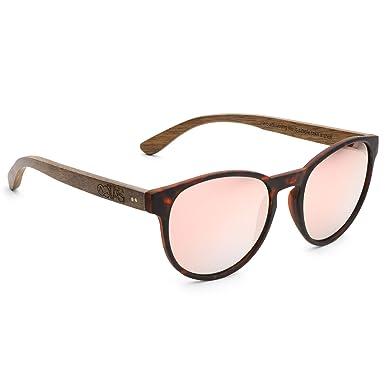 Take A Shot Sonnenbrille Lisi - Walnuss braun/pink verspiegelt (walnut/rose gold mirrored/dark brown havanna matt) GKclpB