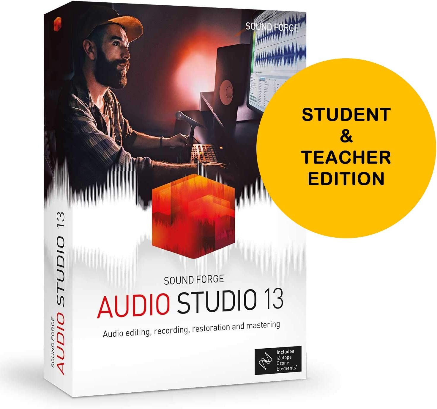 MAGIX Sound Forge Audio Studio 13 Student and Teacher Edition - Audio Editing, Recording, Restoration and Mastering