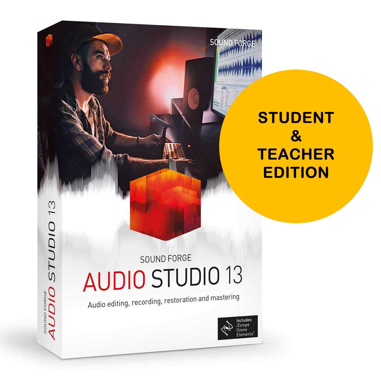 MAGIX Sound Forge Audio Studio 13 Student and Teacher Edition - Audio Editing, Recording, Restoration and Mastering