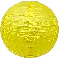 Thepaperbagstore 12 Linternas de papel chinas amarillas