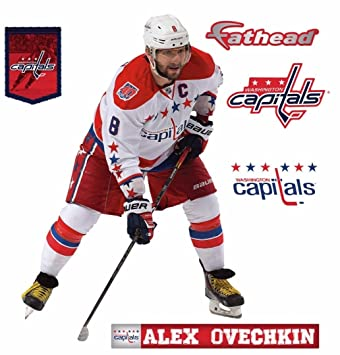 8fee2ac73 Alex Ovechkin FATHEAD Teammate Washington Capitals Official NHL Vinyl Wall  Graphics 17