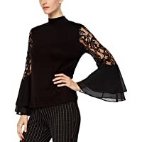 Joseph A Lace Bell-Sleeve Top