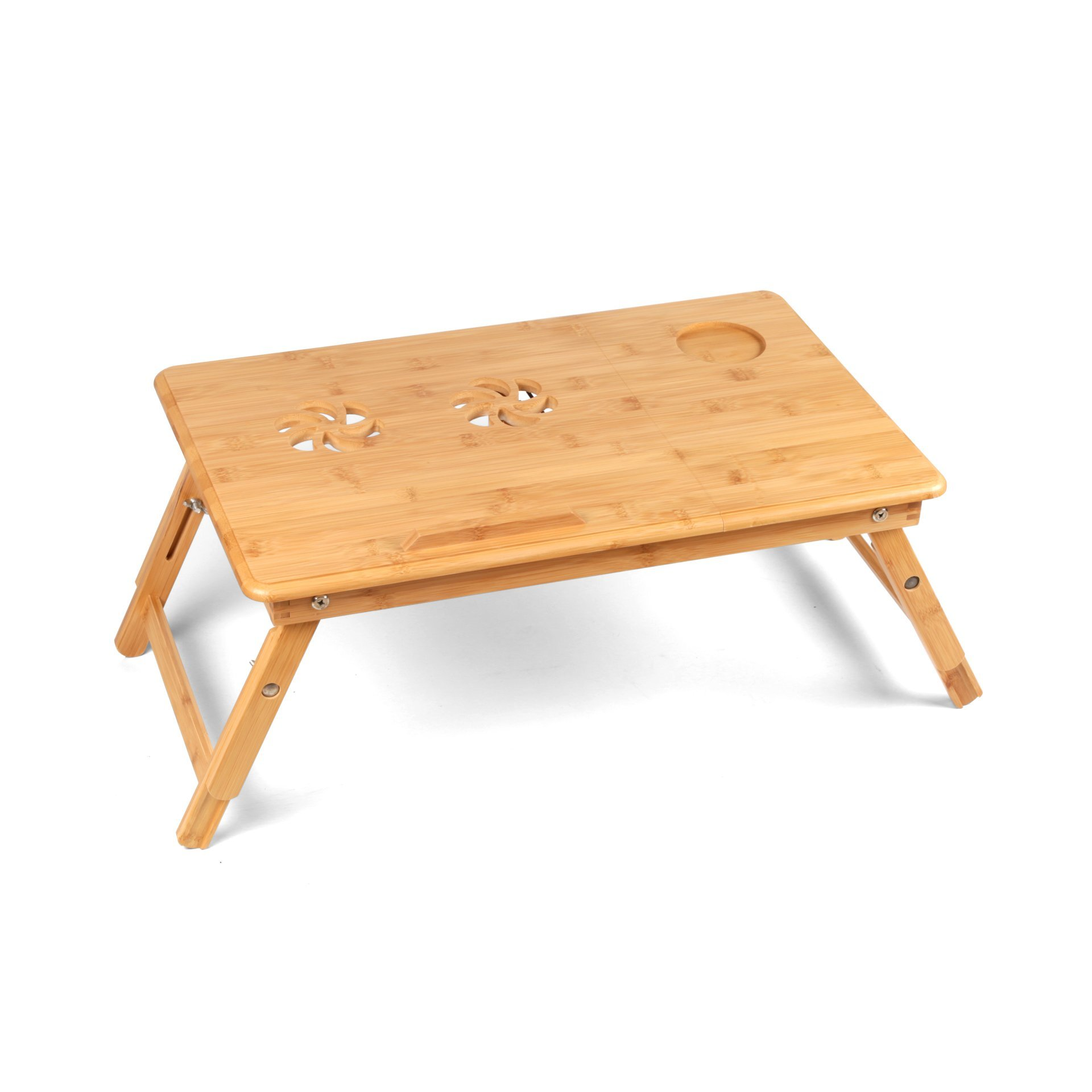 Bamboolifer bamboo-1 1 Laptop Table, Natural