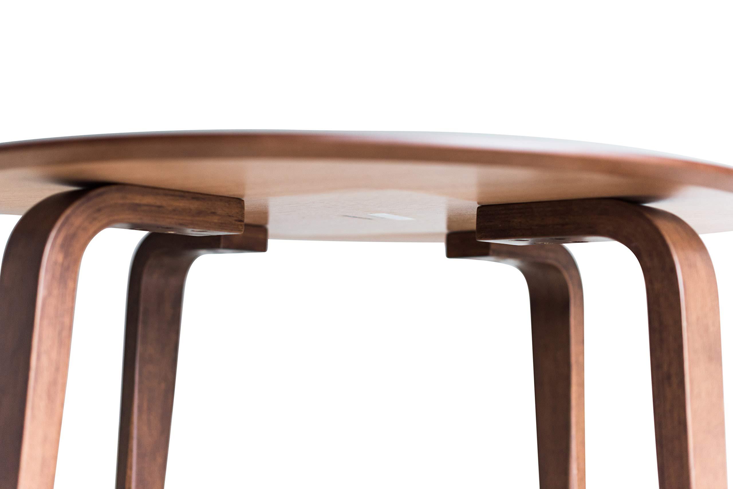 Edloe Finch YUMI Mid-Century Modern Round Dining Table Kitchen Walnut by Edloe Finch (Image #9)