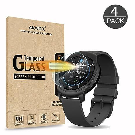 AKWOX [4 Unidades] Protector de Pantalla para Ticwatch 2 ...