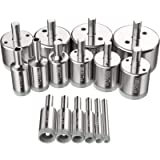 Kamtop Diamond Holesaw Set 16 PCS Diamond Drill Bits Set with 6mm-50mm Diamond Drill Bits for Glass Ceramic Tile…