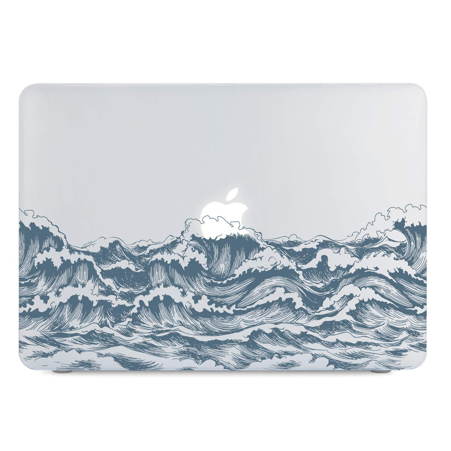 Lapac MacBook Air 13 Inch Clear Case 2019 2018 Release A1932, Soft Touch Hard Shell Case & Retina Display Fits Touch ID with Keyboard Cover (Sea ...
