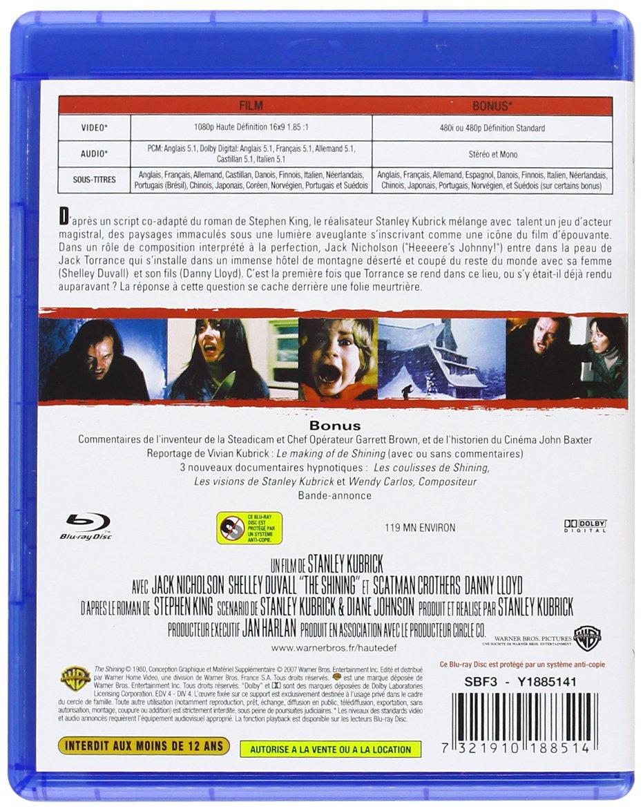 Shining [Francia] [Blu-ray]: Amazon.es: Jack Nicholson, Shelley Duvall, Danny Lloyd, Barry Nelson, Scatman Crothers, Joe Turkel, Stanley Kubrick: Cine y ...