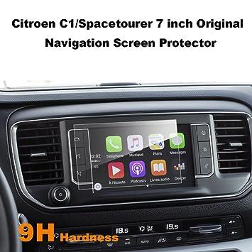LFOTPP Citroen C1 Spacetourer 7 pulgadas Navegación Protector de pantalla - 9H Cristal Vidrio Templado GPS