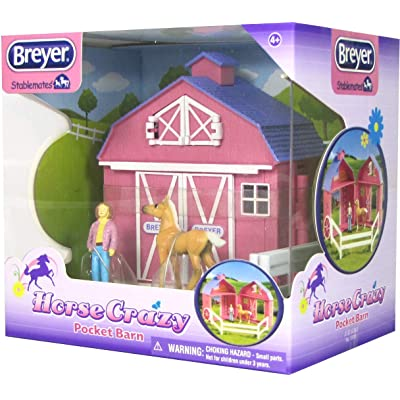 Breyer Stablemates Horse Crazy Pocket Barn and Horse Play Set: Breyer Stablemates: Toys & Games