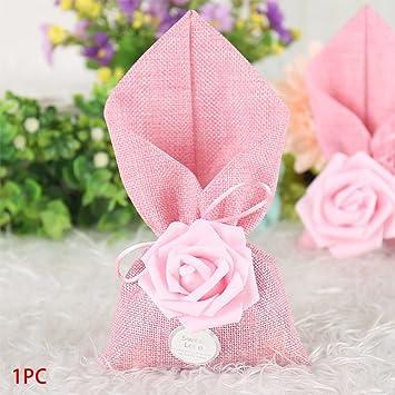 Bolsa para dulces de lino con forma de flor, ideal para ...