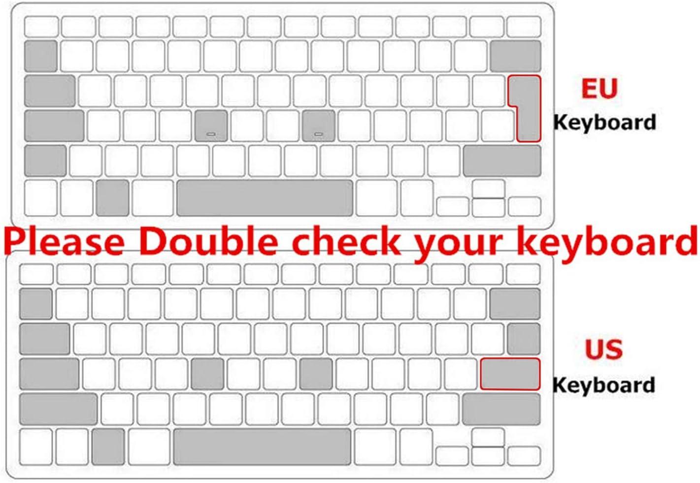 UK//EU ESP Slim Spanish Gradient Silicone Keyboard Cover Keypad Skin Protector Compatible for Mac Book Air Pro Retina 13