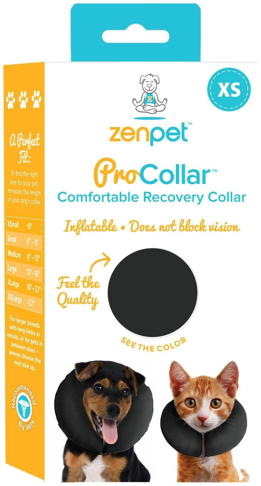ZenPet ProCollar Pet E-Collar for Dogs and Cats - Comfortable Recovery Collar