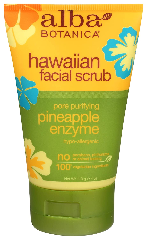 Alba Botanica Hawaiian Pineapple Enzyme Facial Scrub, 4 oz