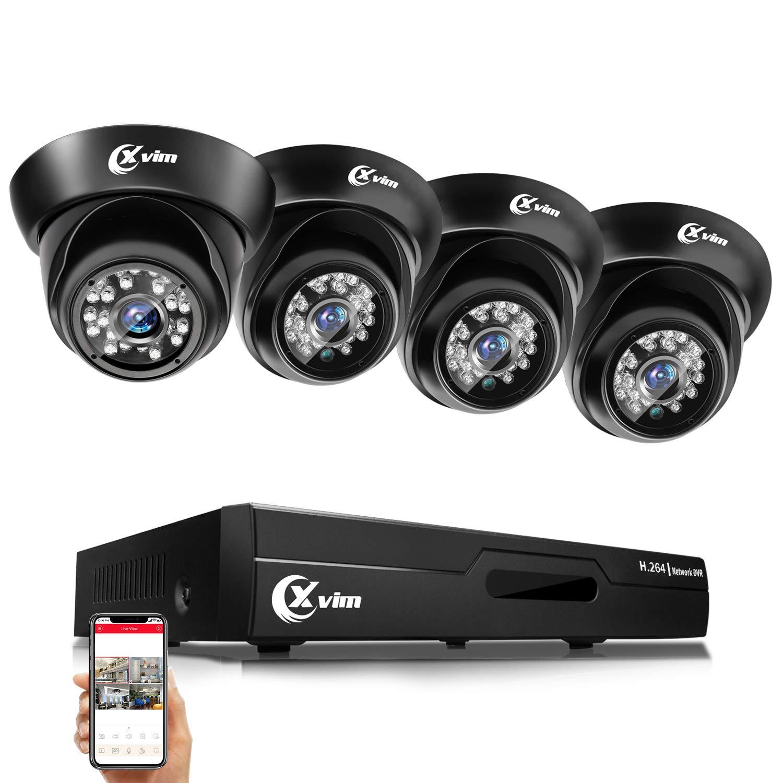 XVIM 720P HD CCTV Camera Indoor Outdoor Home Security Dome Camera 24 IR LEDs 85ft Night Vision,Aluminum Metal Housing NO Hard Drive