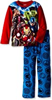 Marvel Big Boys' The 'A' Team 2-Piece Pajama Set, Red
