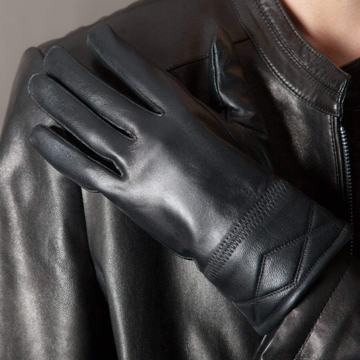 CWJ Gloves Men Warm Thickening Fashion,Black,One Size by CWJ (Image #5)