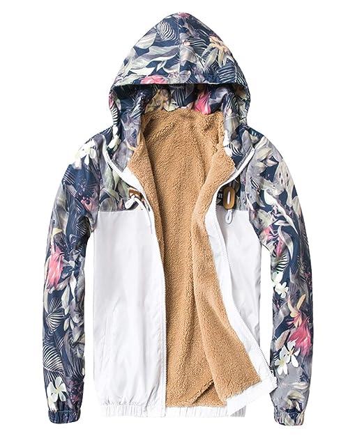Chaqueta Casual De Los Chaqueta Hombres Floral Bomber Simple Estilo Gruesa Hip Hop De Los Hombres Slim Fit Floral Pilot Bomber Jacket Coat Sudaderas con ...