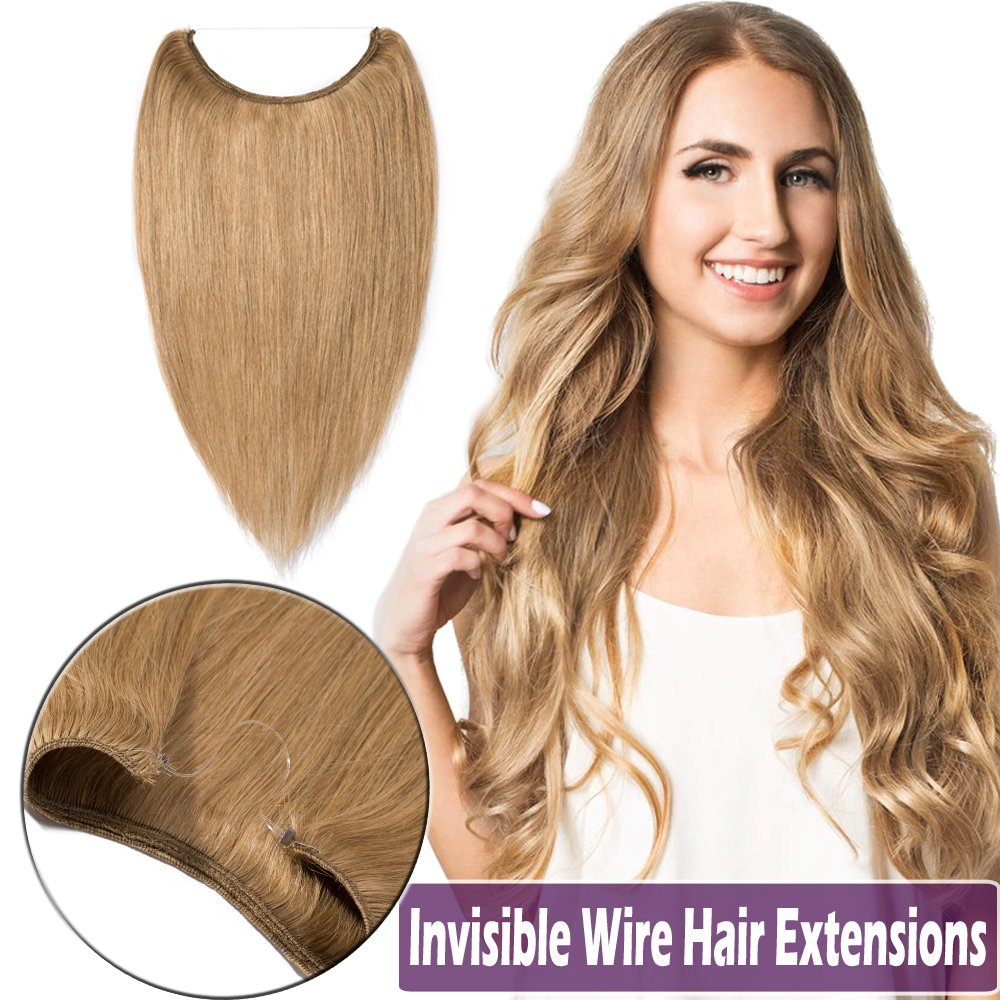 Amazon 100 Hidden Wire Human Hair Extensions Remy 16 22