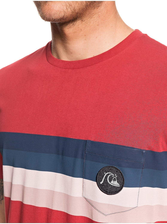 Quiksilver Mens Seasons Stripe Short Sleeve Tee