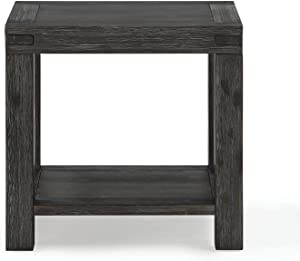 Modus Furniture International Meadow Solid Wood End Table, Graphite