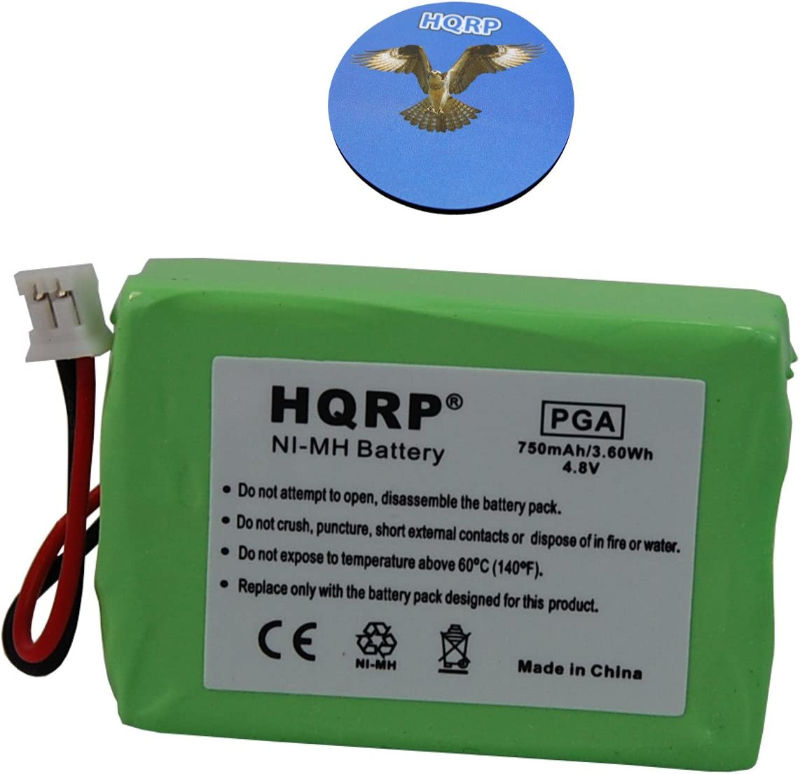 HQRP Battery Compatible with Sportdog ProHunter 2400 Model SD-2400 SR200-IM Remote Controlled Dog Training Collar Receiver Plus Coaster