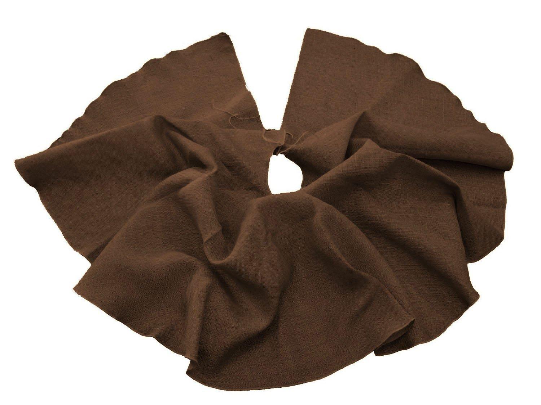 Inch Black LA Linen Round Burlap Skirt Christmas Tree Decor 40