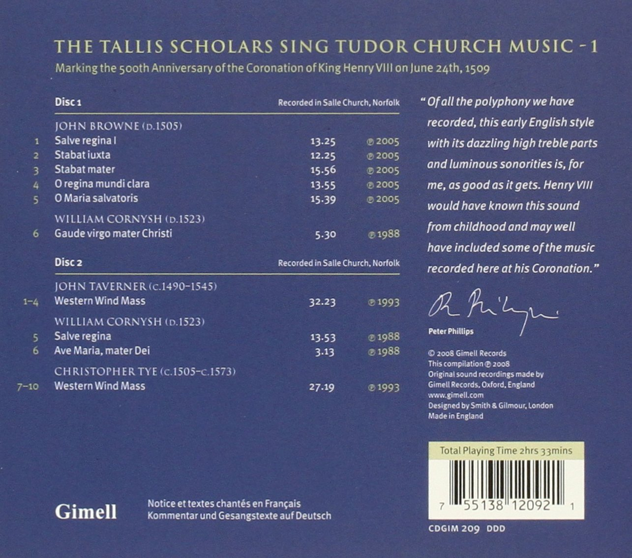 Tudor Church Music 1 by Mundi