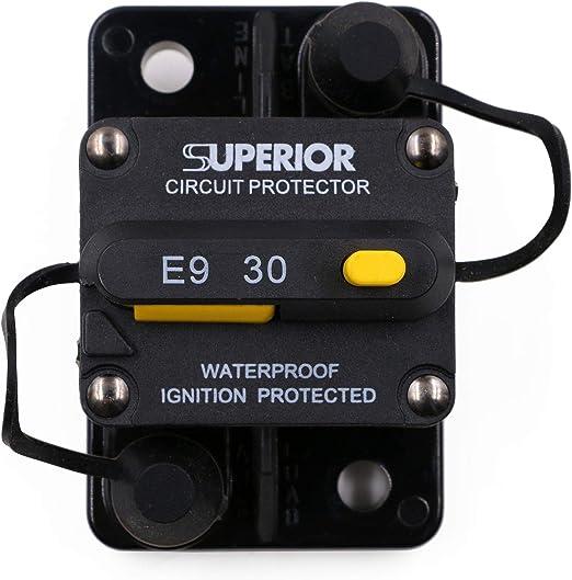 T Tocas 30 Amp Oberflächen Leistungsschalter Mit Manueller Rückstellung Für Auto Boots Marine 12v 48v Dc Wasserdicht Auto