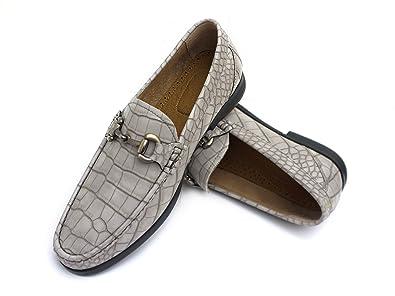 f0dcef1ef Easy Strider Men's Loafer Shoes - Elegant Silver Metal Buckle - Perfect  Business Dress Shoe for