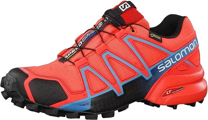 Salomon L39183600, Zapatillas de Trail Running para Mujer, Naranja (Naranja Punch/Black/Blue Jay), 45 1/3 EU: Amazon.es: Zapatos y complementos