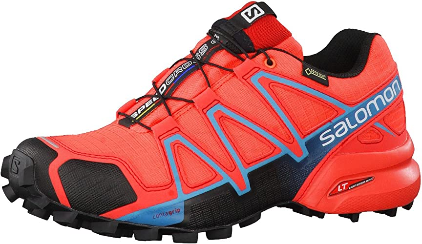 Salomon L39183600, Zapatillas de Trail Running para Mujer, Naranja (Naranja Punch/Black/Blue Jay), 45 1/3 EU: Amazon.es: Zapatos y complementos