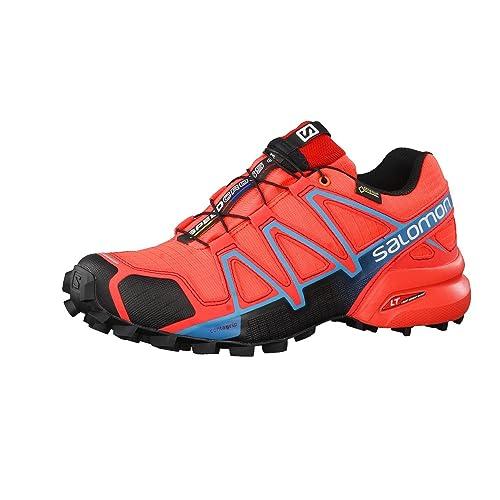 Salomon L39183600, Zapatillas de Trail Running para Mujer, (Naranja Punch/Black/Blue Jay), 45 1/3 EU: Amazon.es: Zapatos y complementos