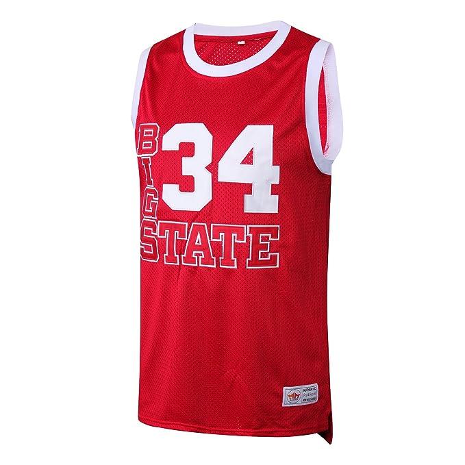 the best attitude bf2ad c7018 MM MASMIG Jesus Shuttlesworth 34 Big State Basketball Jersey He Got Game  S-XXL Red