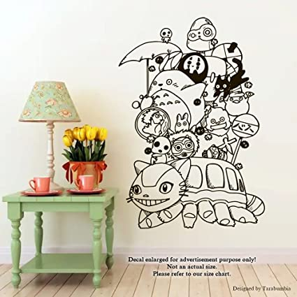 office wall stickers. Manga Anime Studio Ghibli Wall Decals Totoro Ponyo Catbus Susuwatari  Stickers Decorative Design Ideas For Your Office Wall Stickers