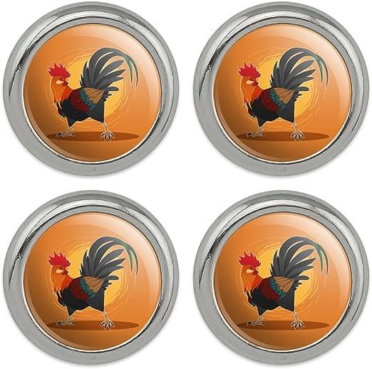 34 = 20 mm. Handmade buttons 6 Classic Design  Rooster Buttons