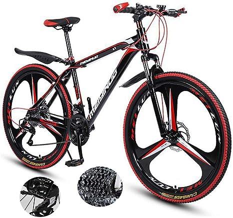 LXDDP Bicicleta montaña Marco Aluminio Bicicleta Horquilla Suspensión Ruedas 3 radios Frenos Doble Disco Bicicleta Bicicleta Aluminio Bicicleta Carreras Ciclismo al Aire Libre: Amazon.es: Deportes y aire libre