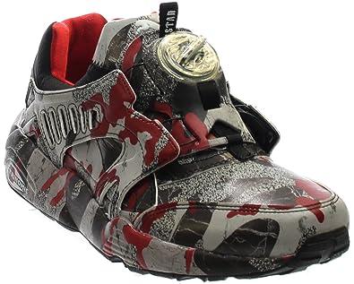 d415267addb85c Puma Disc Blaze Camo x TRAPSTAR Mens Green Textile Lace Up Trainers Shoes   Amazon.co.uk  Shoes   Bags