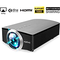 Vamvo HD 1080p 1800-Lumens Mini Portable Smartphone Video Projector