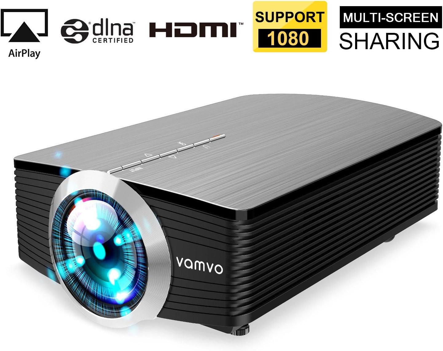 Vamvo Mini proyector de vídeo portátil para Smartphone, 1080P ...