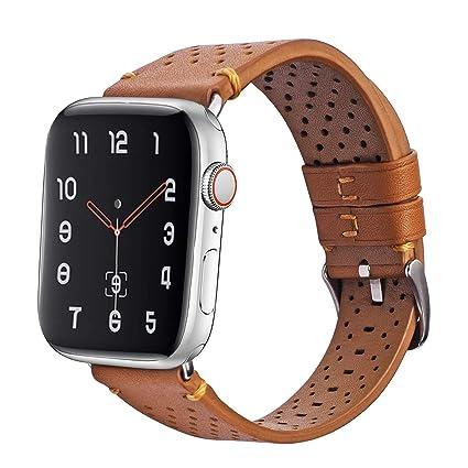 iBazal Correa Compatible con iWatch Series 4 Correa 40mm Cuero 38mm Piel Series 3 2 1 Pulseras Bandas reemplazo para Apple Watch Hombres Mujer Reloj - ...