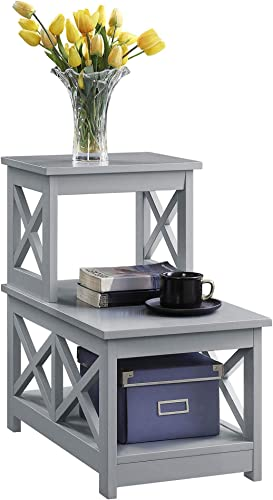ACME Brancaster Aluminum Nightstand with USB and Power Dock