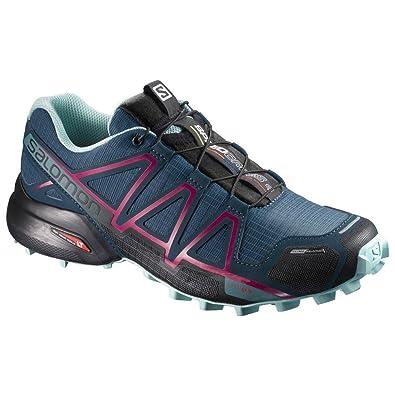 Salomon Women's Speedcross 4 Trail Running Shoes & Quicklace Kit Bundle