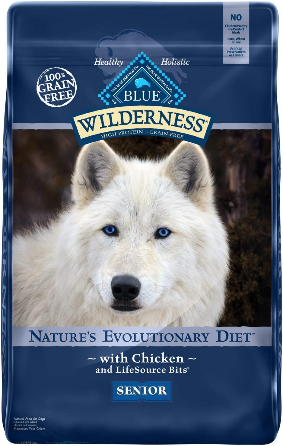 6. Blue Buffalo Wilderness Senior Grain-Free Dry Dog Food